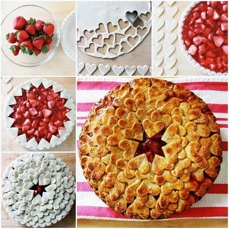 Crostata di fragole e cuori